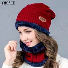 Ymsay pasamontañas gorro de punto para mujer gorras de bufanda cuello más  caliente sombreros de invierno c2daf73eee6