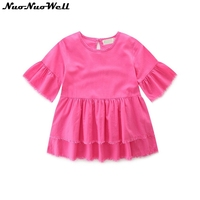 NuoNuoWell 2017 Summer Family Matching Cotton T Shirt Sweet Cute Blouse Mom Daughter Lovely Parent Child