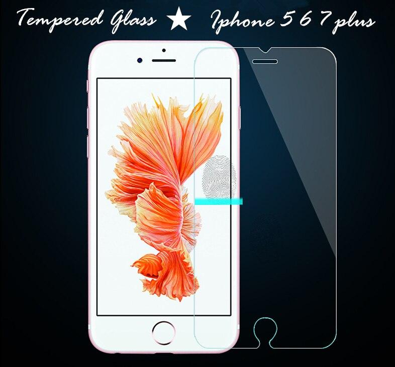 9 h 0.26mm de vidrio templado para apple iphone 5 5s 5c 6 6 s 7 más caso del sma