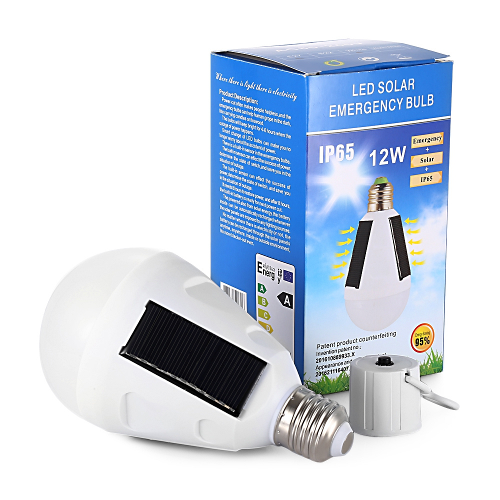 12w solar panel led bulb led solar lamp solar power ip65 led light outdoor solar lamp spotlight. Black Bedroom Furniture Sets. Home Design Ideas