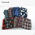 Calças pijamas Para Homens Outono E Inverno Duplo de Lã Xadrez Calças Casuais Calças Dos Homens de Salão Plus Size XXL