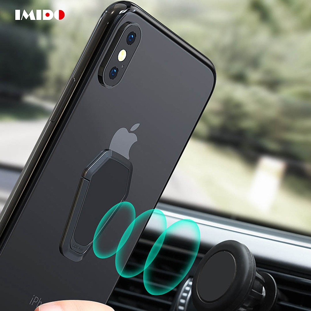 IMIDO Universal Magnetic Disk For Car Phone Holder 360 Degree Finger Ring  Stand Mount For iPhone Samsung Xiaomi Cell Phone Stent 7b5012f71916