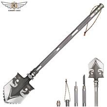 ALMIGHTY EAGLE, профессиональная тактическая многофункциональная лопата для выживания на открытом воздухе, складные инструменты, садовое оборудование для кемпинга, армейский инструмент