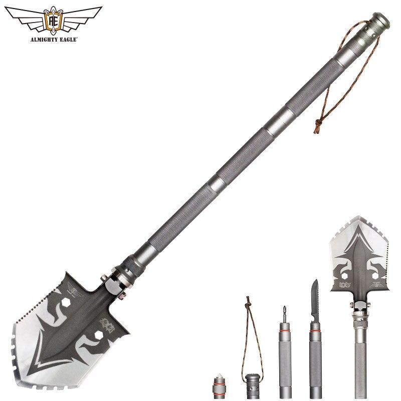 Всемогущий Орел Professional Открытый выживания тактический многофункциональная лопата складной инструменты сад туристическое снаряжение Арми...