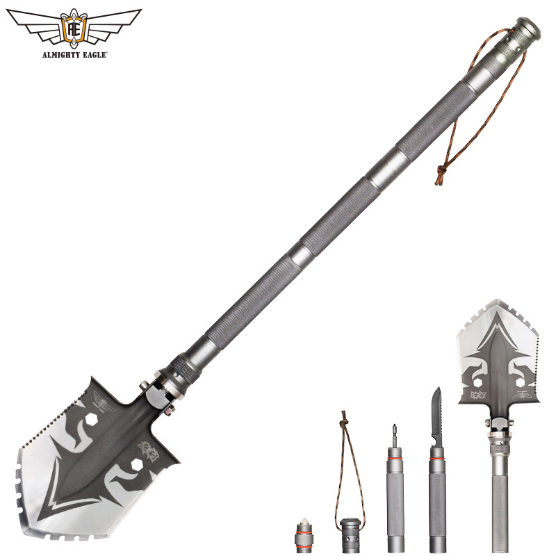 ALMIGHTY EAGLE Professional outdoor survival Tactical Multifunctional Shovel folding Tools Garden camping equipment Army tool