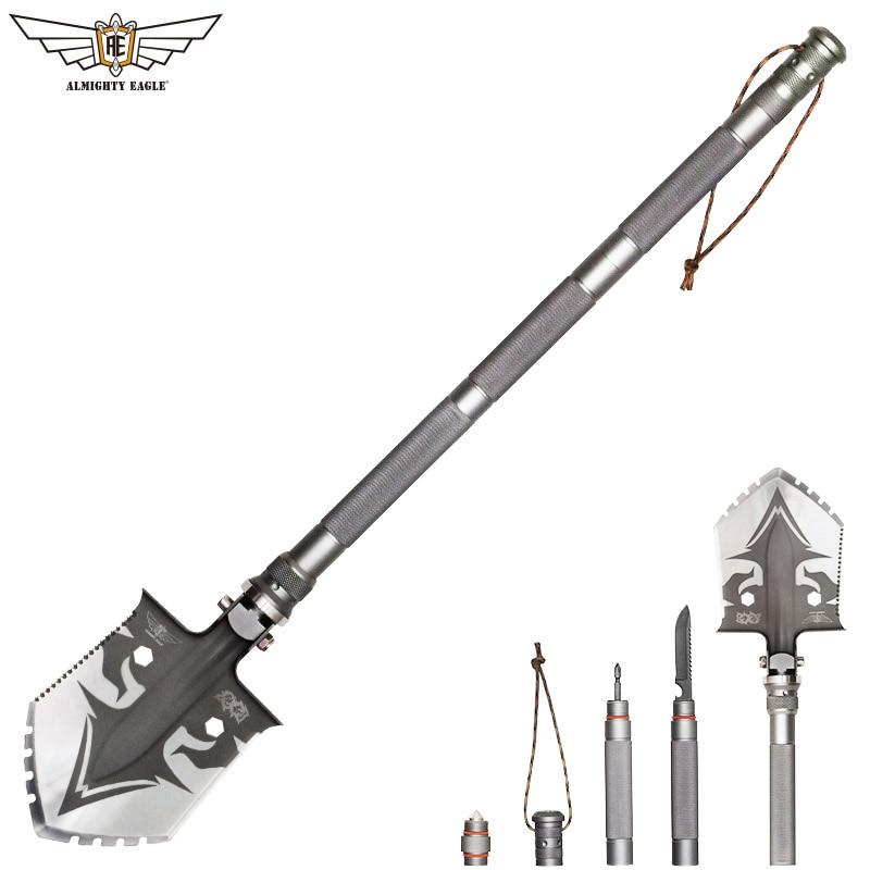 Todopoderoso profesional águila táctico de supervivencia al aire libre pala multifuncional plegable herramientas de jardín camping ejército equipo herramienta
