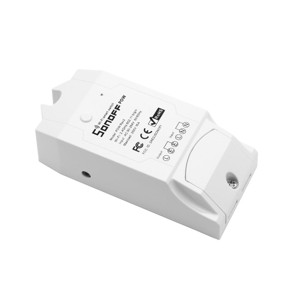 Image 4 - SONOFF Pow R2 WiFi Switch With Power Consumption Measurement WiFi Power Switch 15A Smart Wifi Switch Controller Works with Alexaswitch 16aswitch controlswitch switch -