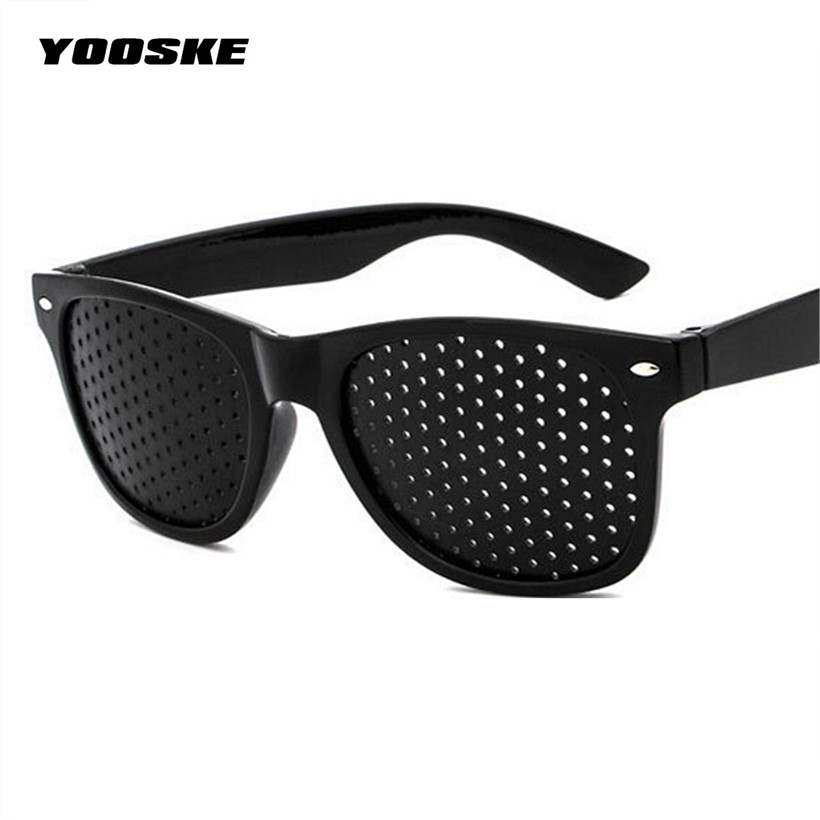 Yooske Anti Myopia Pinhole Glasses Pin Hole Sunglasses Eye
