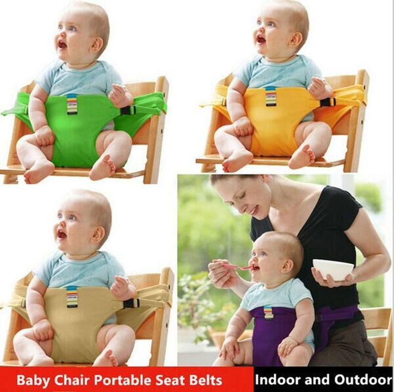 Baby Feeding Chair Portable Infant Booster Seats Toddlers Children seat BB eating feeding safety long belt