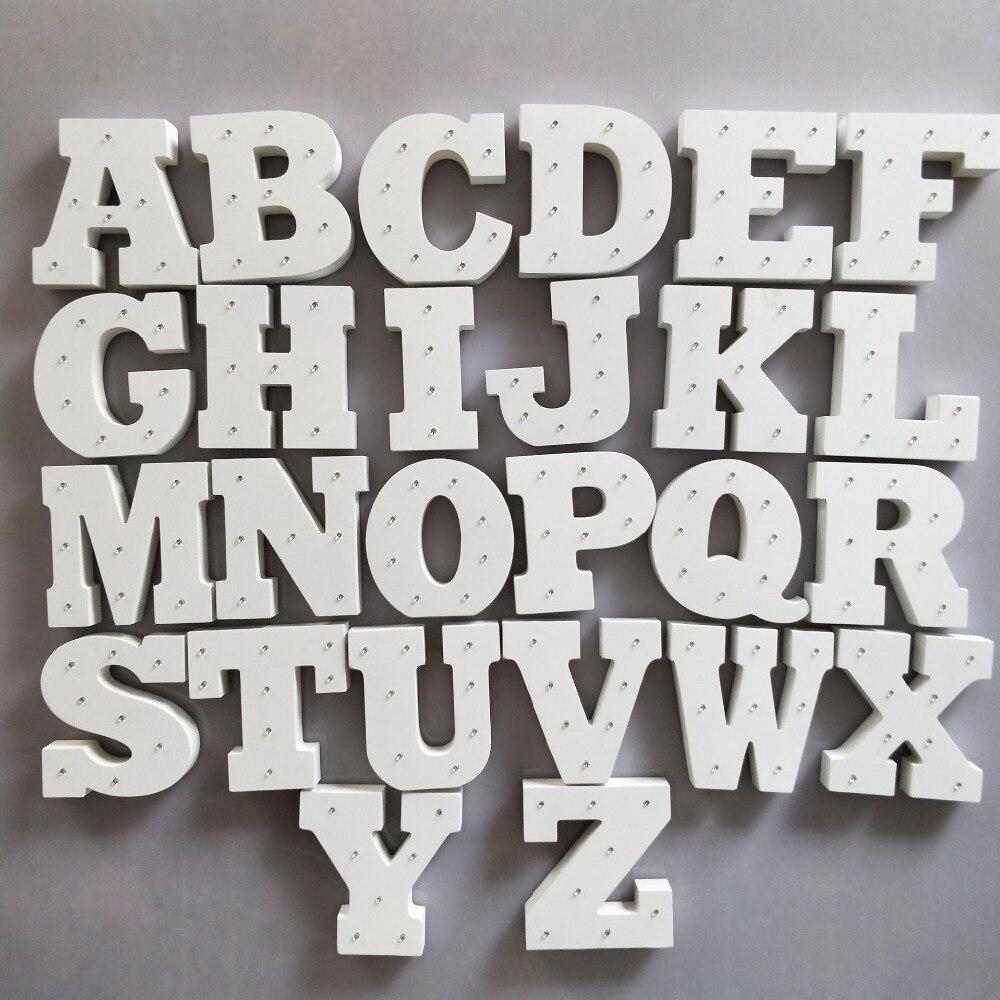 Бели дървени букви Декорация Занаяти - Декор за дома - Снимка 4