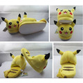 Popular Anime Monsters Go Pikachu Slippers Cute Indoor Fluffy Slippers 100% Soft Stuffed Plush Toy Slippers Shoes