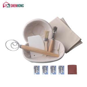 SHENHONG Dough Brush Scraper Curved-Knife Rattan Basket Bread Fermentation-Proofing Danish