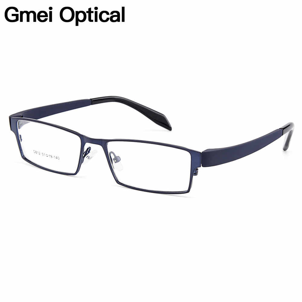 Gmei Optical Men Titanium Alloy Eyeglasses Frame for Men Eyewear Flexible Temples Legs IP Electroplating Alloy Spectacles Y812