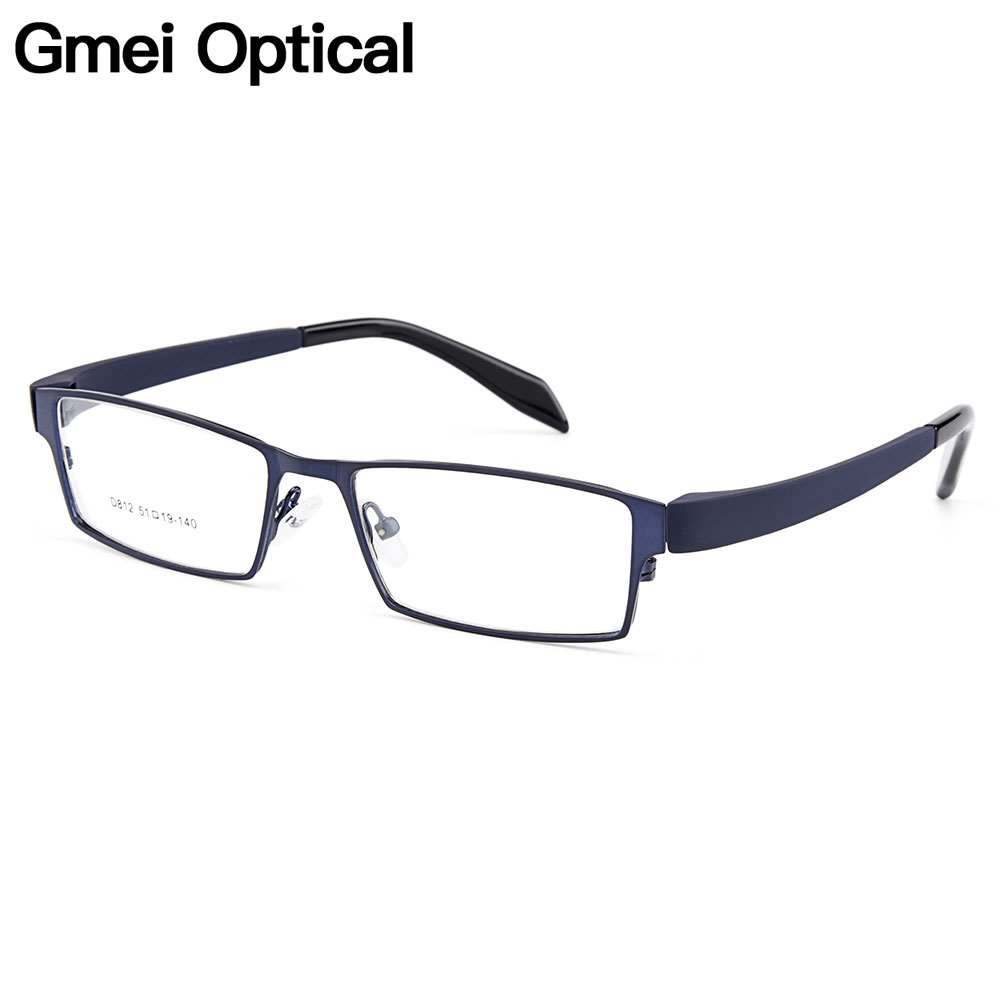 Gmei Optical Men Titanium Alloy Eyeglasses Frame For Men Eyewear Flexible Temples Legs IP Electroplating Alloy Spectacles Y812