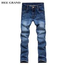HEE GRAND мужские Джинсы Мода Slim Fit Straight Тип Повседневные Брюки Полная Длина Джинсовые Брюки MKN618
