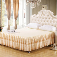 bed skirt sale queen size romantic lace bedspread 180x200cm bedding one piece free shipping