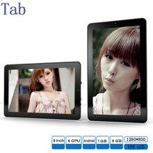 9 Pulgadas Tabletas Android 1 GB 8 GB WIFI Bluetooth de Doble cámara 1280*800 IPS LCD de 9 pulgadas tab pc Quad Core A33 Nuevo Diseño 7 8 9