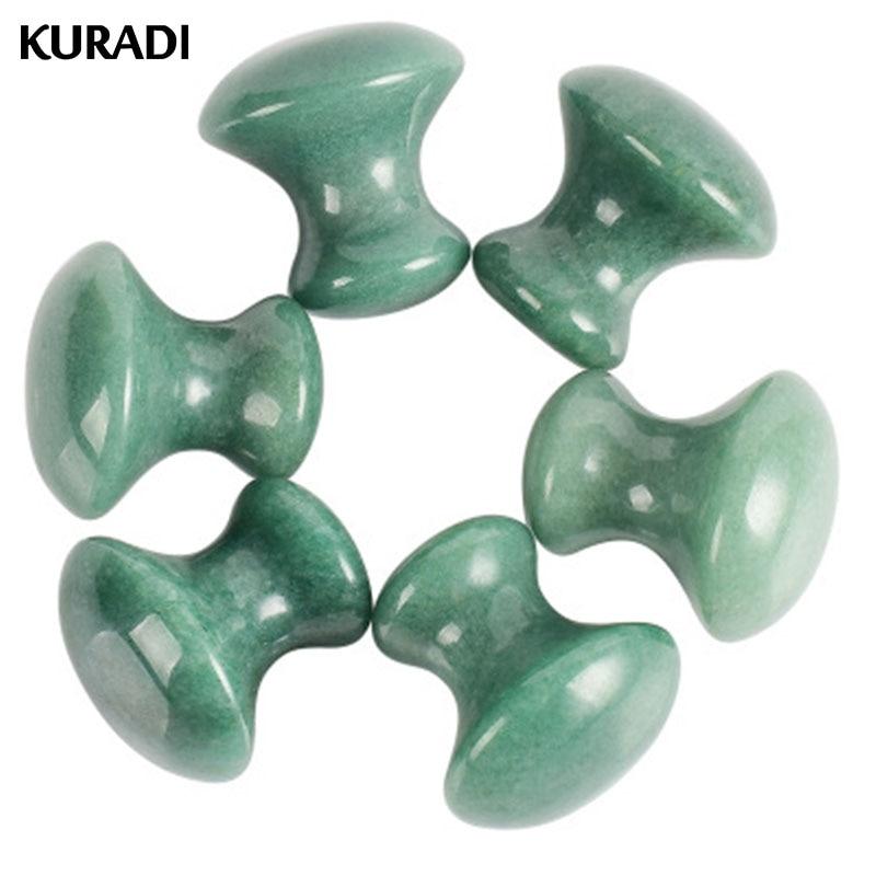 Dongling Quartz Mushroom Massage Stone Crystal Jade Facial Body Foot GuaSha Thin Anti-wrinkle Relaxation Beauty Health Care Tool