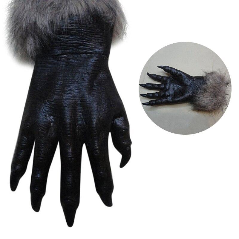 nuevas mscaras del partido clsico de halloween hombre lobo lobo patas garras guantes cosplay creepy costume