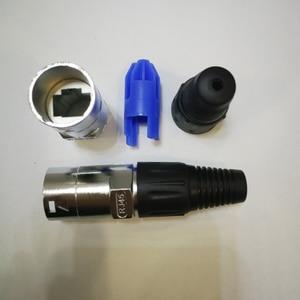Image 4 - 10Pcs/Lot High quality 3 Pin NE8MC RJ45 Cable End connector heavy Duty Housing
