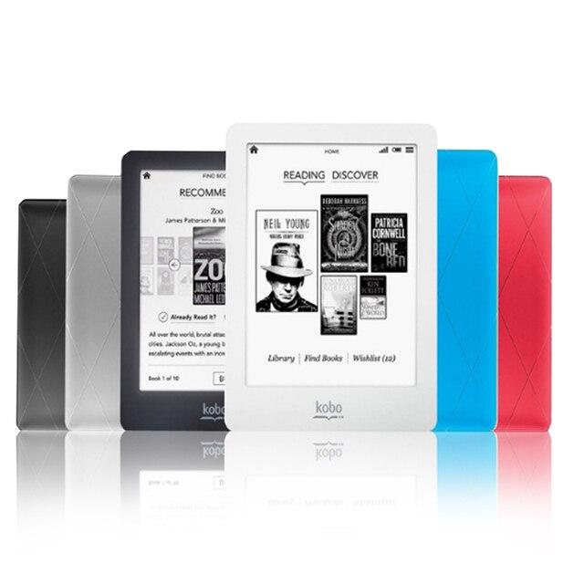 En luz de 6 pulgadas eBook eReader Kobo Glo N613 e-book pantalla táctil de e-ink 212 PPI 2 GB WIFI lector de libro