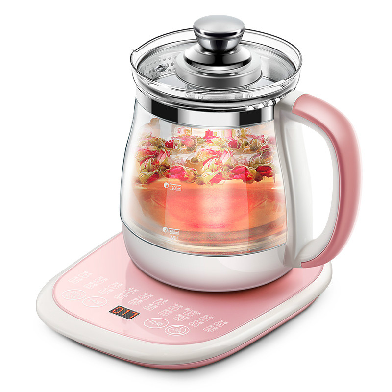 health pot is fully automatic Add thick glass electric heating kettle multi-function boiled tea ware flower teapot health raising pot fully automatic thickened glass multi function tea ware mini body electric heating kettle ware