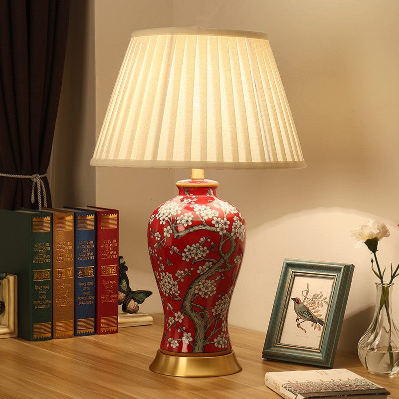 China antique living room vintage table lamp porcelain - Porcelain table lamps for living room ...
