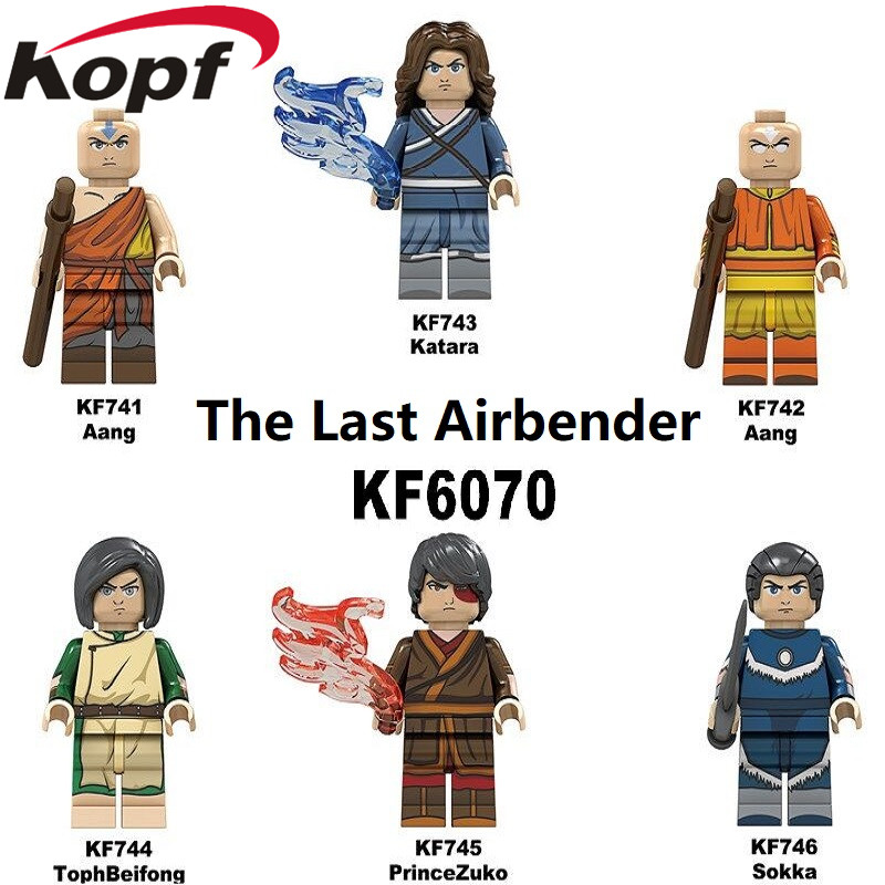 Building Blocks The Last Airbender Bricks Aang Katara TophBeifong PrinceZuko Sokka Figures Collection Toys For Children KF6070