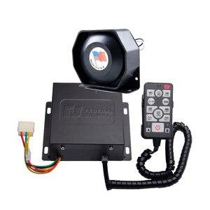 Электронная полицейская сирена AS9200E, 200 Вт, 12 в пост. Тока, проводной усилитель с ультратонким металлическим динамиком, Автомобильная сигнал...
