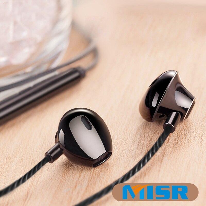 MISR P25 Metallo Wired Auricolari per Iphone Samsung Huawei Xiaomi con Il Mic Microfono per il Telefono In-Ear Cuffie Stereo Auricolari