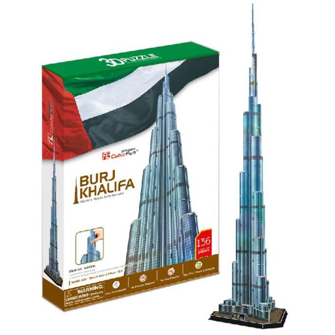 T0416 Puzzles 3D 1.5 m Dubai Burj Khalifa tour bricolage modèle de papier de construction enfants cadeau créatif enfants jouets éducatifs offre spéciale