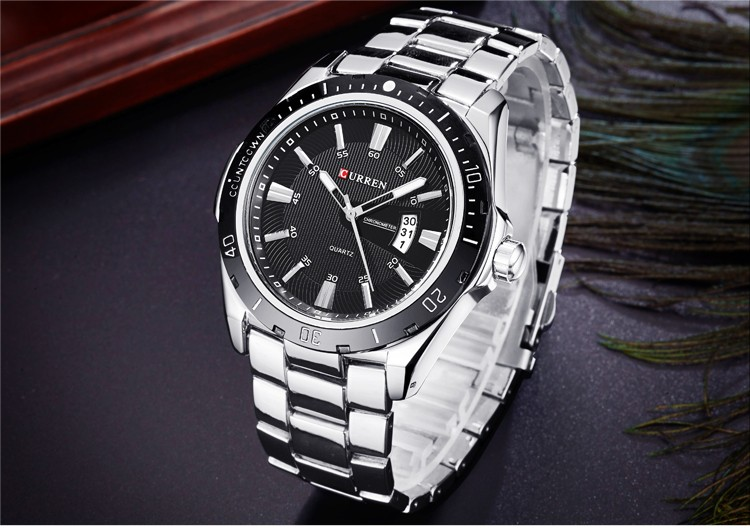 Mens Watches Top Luxury Brand CURREN 18 Men Full Steel Watches Quartz Watch Analog Waterproof Sports Army Military WristWatch 13