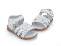 Обувь для девочек сандалии натуральная кожа белый розовый красный с открытым носком цветы Лето Обувь для девочек обувь детская обувь широк...