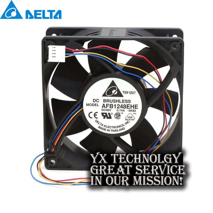 Delta New Original package AFB1248EHE 12038 48V 0.74A PWM fan speed control of wind capacity for  120*120*38mm delta afb1212hhe 12038 12cm 120 120 38mm 4 line pwm intelligent temperature control 12v 0 7a