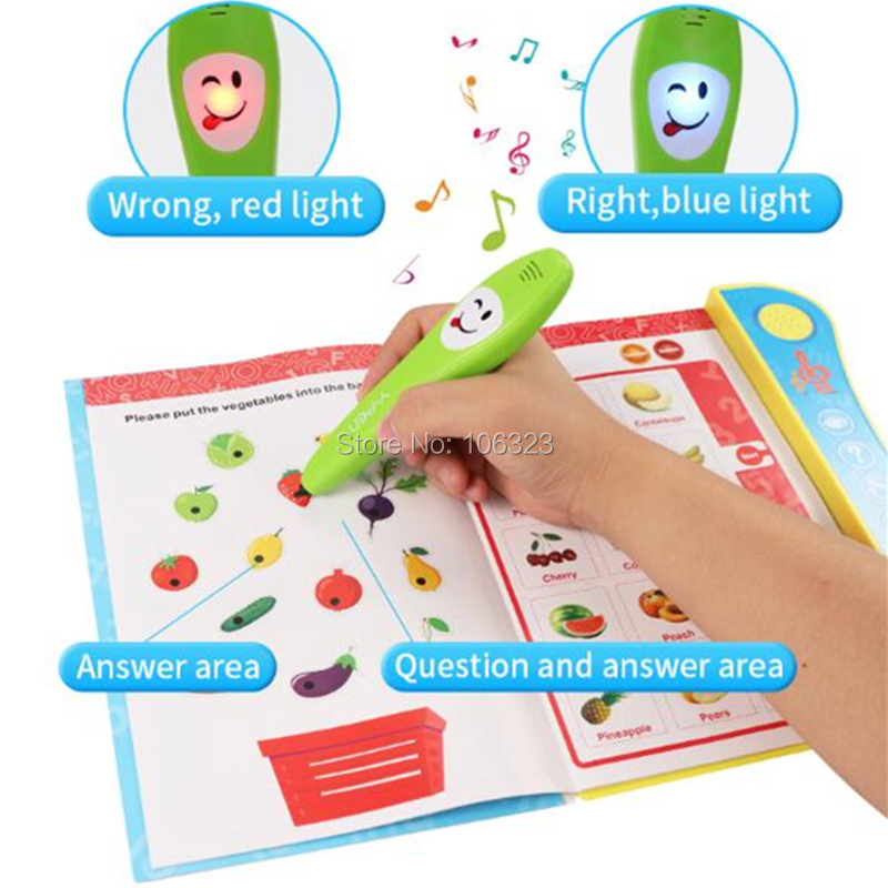 Children Enlightenment Language Learning Machine Book Smart Logic Reading Pen Toy, Electronic Y-Book Early Educational Fun Study