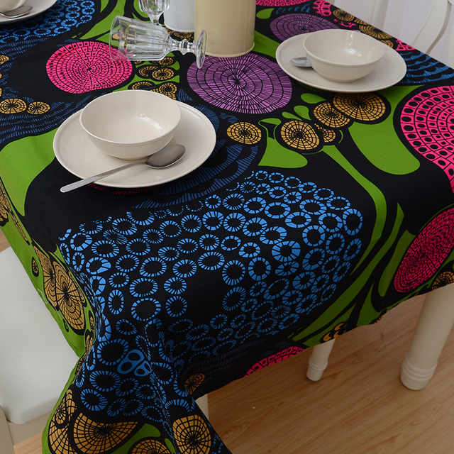 Abstract Pattern Cotton Tablecloth
