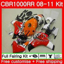 Bodys For HONDA CBR1000 RR CBR 1000 RR 08 11 Repsol orange 59HS13 CBR1000RR 08 09 10 11 CBR 1000RR 2008 2009 2010 2011 Fairings