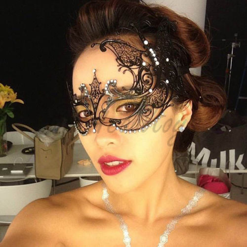 Beautiful Butterfly Black Laser Cut Metal Masquerade Mask
