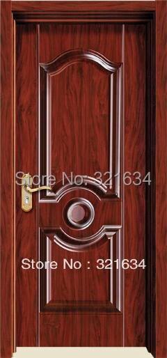 Nuevo diseo interior de madera de acero pintado puerta para