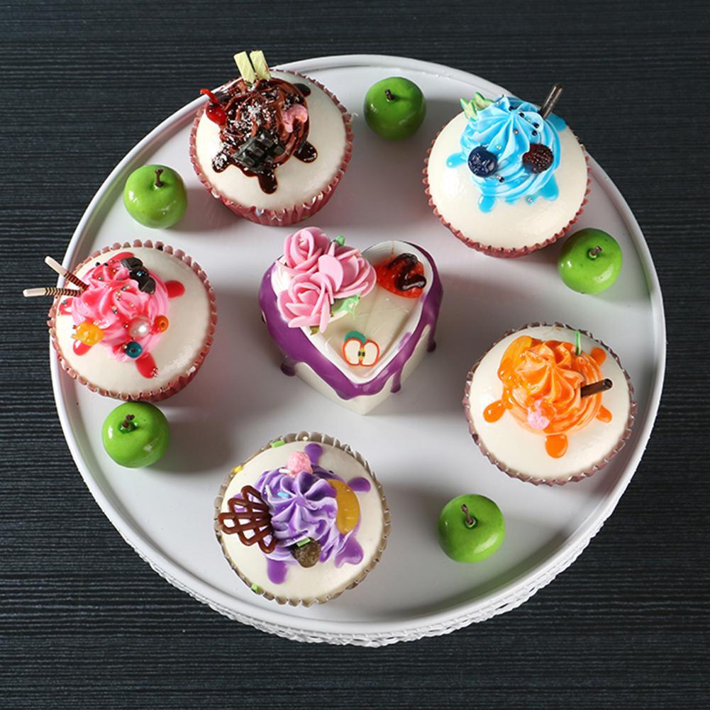 Hierro Pastel Cupcake Display Stand Pequeño Mini Cocina Placa De Postre Repostería