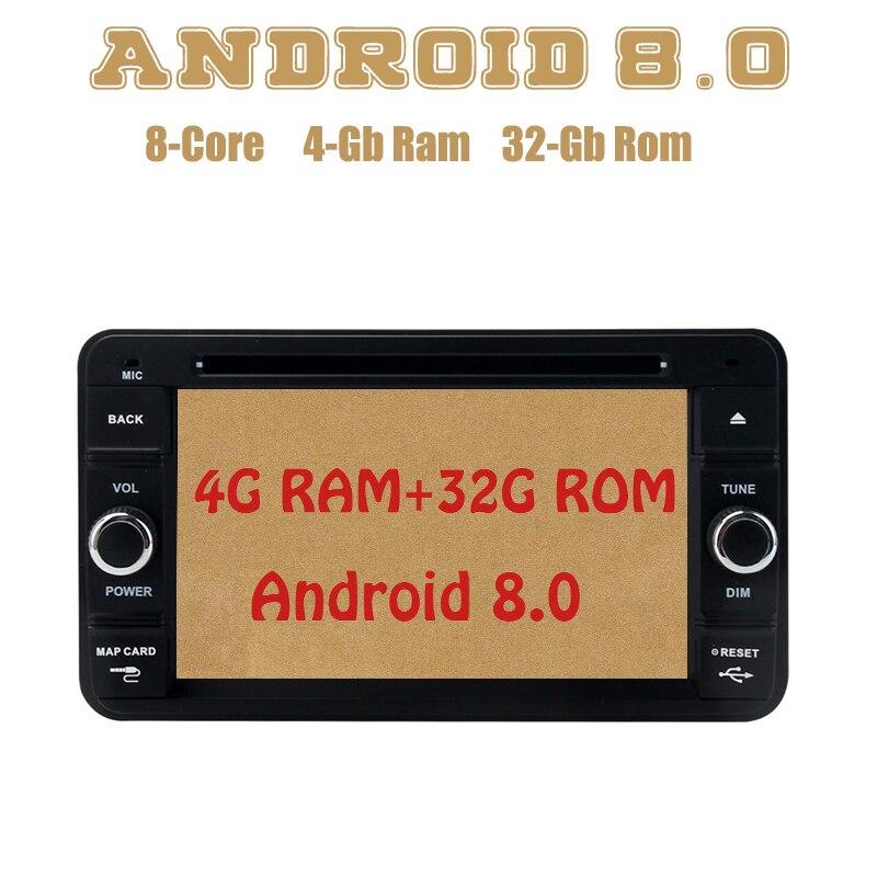 Dasaita Octa core PX5 Android 8.0 voiture dvd gps pour Suzuki Jimny 2007-2016 avec 4G RAM 32G ROM wifi 4g usb stéréo automatique Multimed