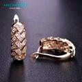Mechosen aretes de joyería de moda chapado en oro rhinestone aretes brincos bijoux para las mujeres de lujo aaa zirconia princesa ganchos