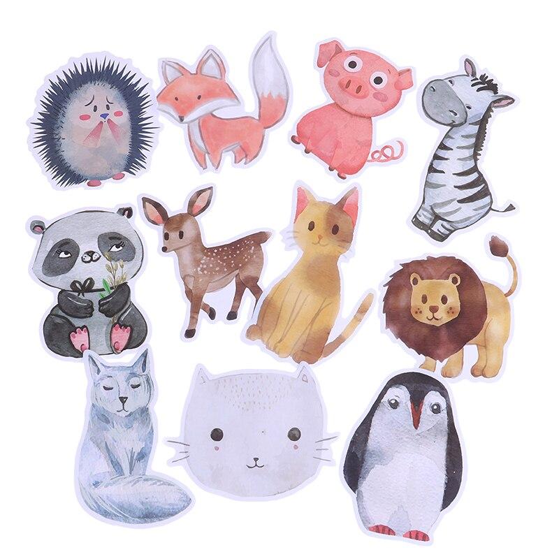 50 Stks/zak Waterdichte Super Leuke Decal Kids Gift Vos Varken Panda Cartoon Dier Stickers Voor Auto Laptop Telefoon Pad Fiets Een Lang Historisch Aanzien Hebben