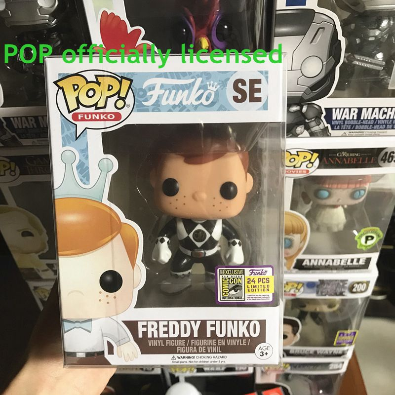 24PCS Exclusive FUNKO POP Official Freddy Funko (Black Rranger) #SE Limited Edition Vinyl Action Figure Collectible Model Toy limited edition original funko pop dc universe green lantern the arrow vinyl figure collectible model toy with original box