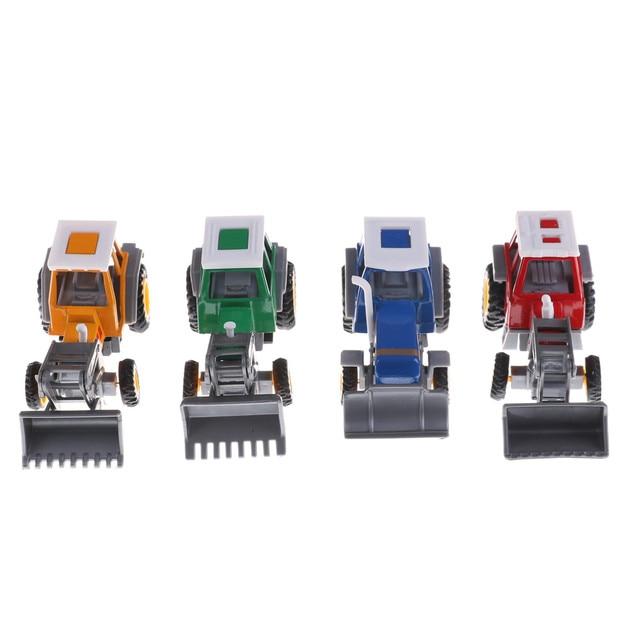 Lucu Promosi! Paduan Petani Teknik Van Mobil Mainan Pendidikan Traktor Model Skala Mainan Anak-anak