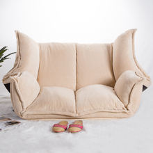 Adjustable Fabric Folding Chaise Lounge Sofa Chair Floor Couch Living Room Furniture Sofa Daybed Sleeper Leisure Gaming Sofa l shaped sofa genuine leather corner sofa with ottoman chaise lounge sofa set low price settee living room sofa furniture