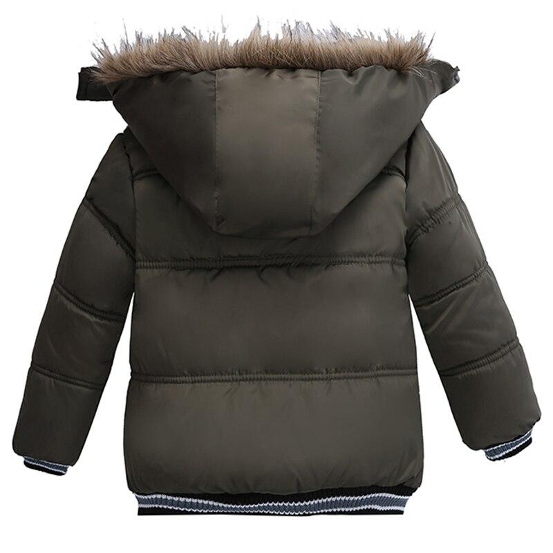 Toddler Kids Warm Autumn Winter Jackets Boys Outerwear Coats Christmas Baby Coat Snow Wear Boys Parka Snowsuit With Fur Collar 3