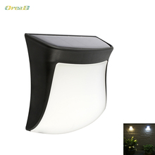 Intelligent Light Control Solar Powered Wall Lamp Warm/Cold White Abs+Pc Exterior Path Stair Lights