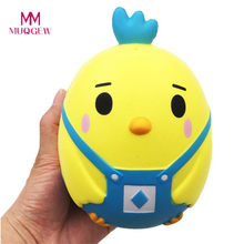 15CM Cute Squeeze Squishy Chicken Cream Scented Stretchy Healing Stress Toys Funny Simulation Animal Kid Toy Creativity Toys(China)