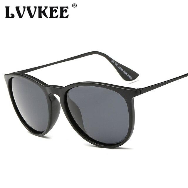 235a08d3b5 LVVKEE Fashion Polarized Cat Eye Sunglasses Women Men Brand Designer Erika  Style Sun glasses TR90